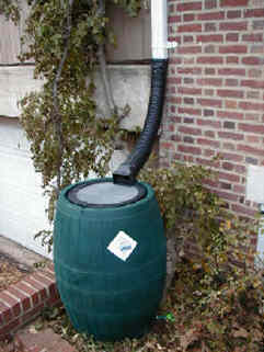 Typical Rain Barrel Set Up For A Residential Property